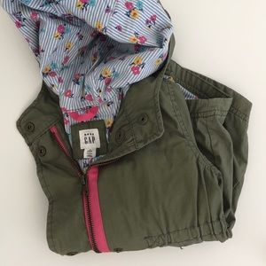 Gap Toddler Girl Zipped, Hooded Jacket
